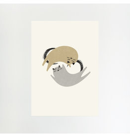 Two Cats A4 Print