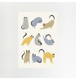 Cat Moves A4 Print
