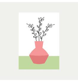 Pink Vase A4 Print