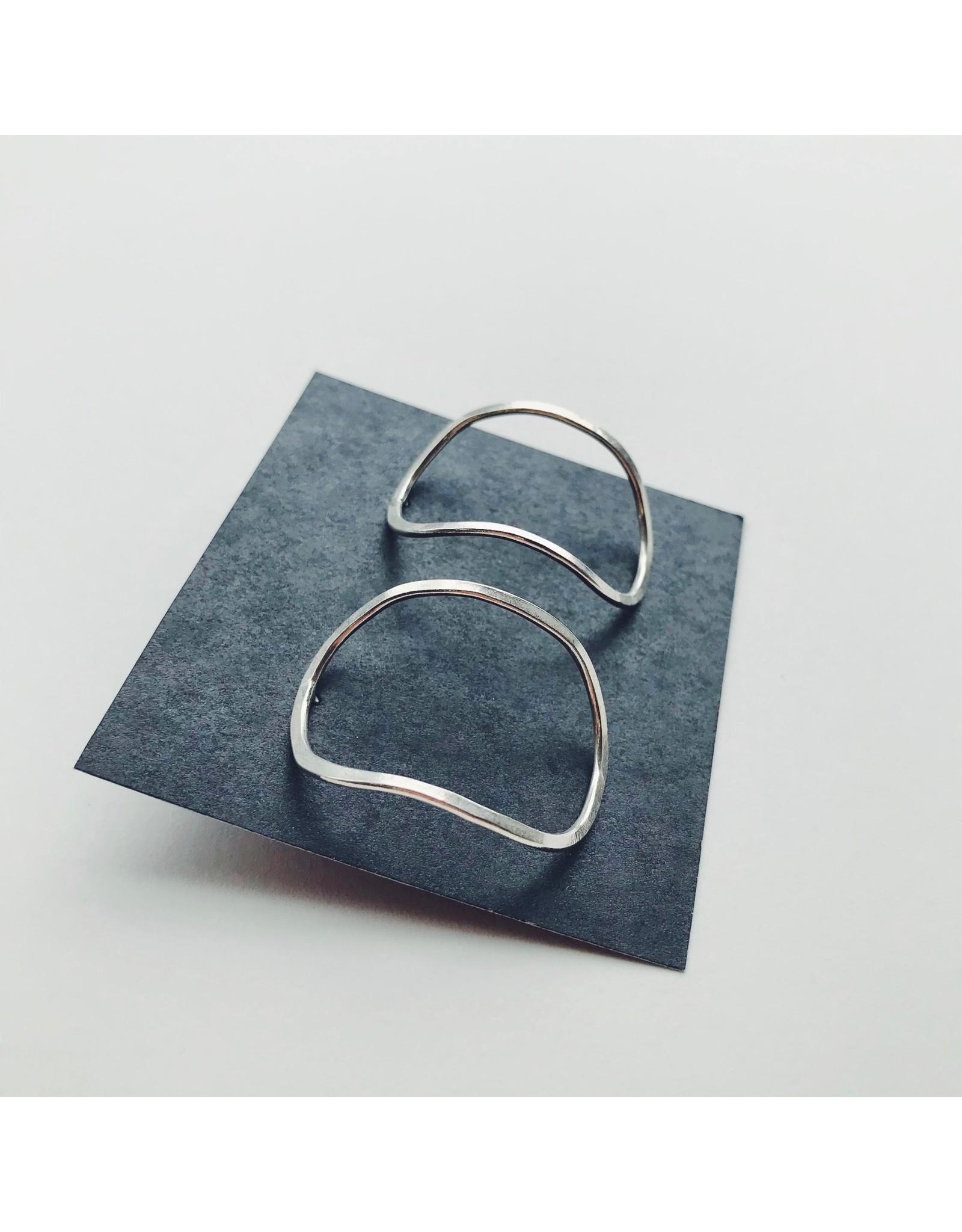 Sculpt Eco Silver Earrings