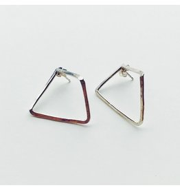 Trapeze Eco Silver Earrings