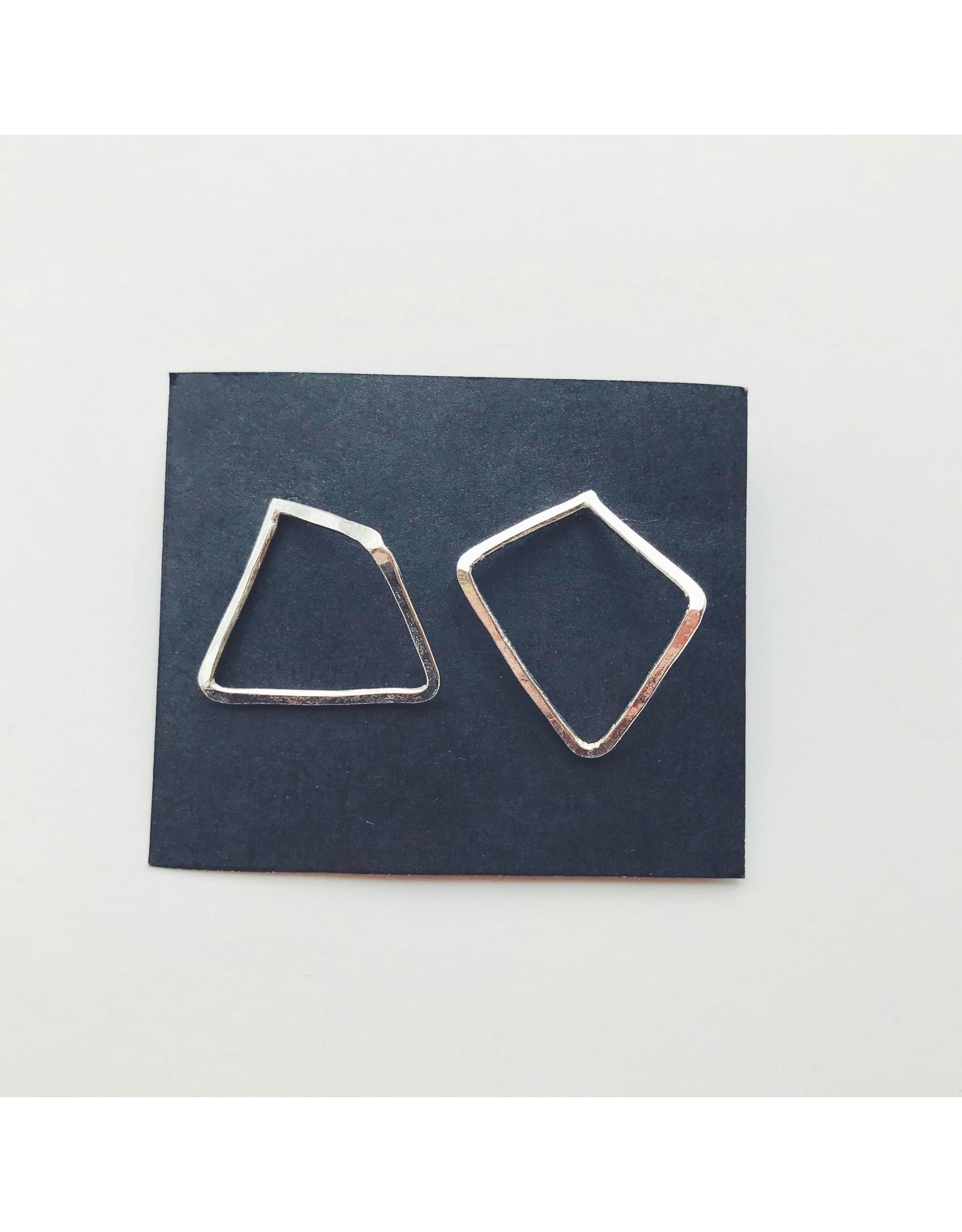 Trapeze Eco Silver Earrings