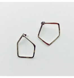 Penta Eco Silver Earrings