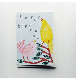 Birthday Birds Greeting Card