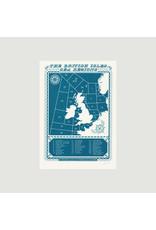 British Isles Shipping Regions A3 Screenprint