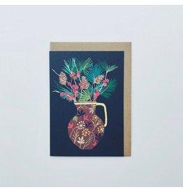 Berries & Fir Christmas Card