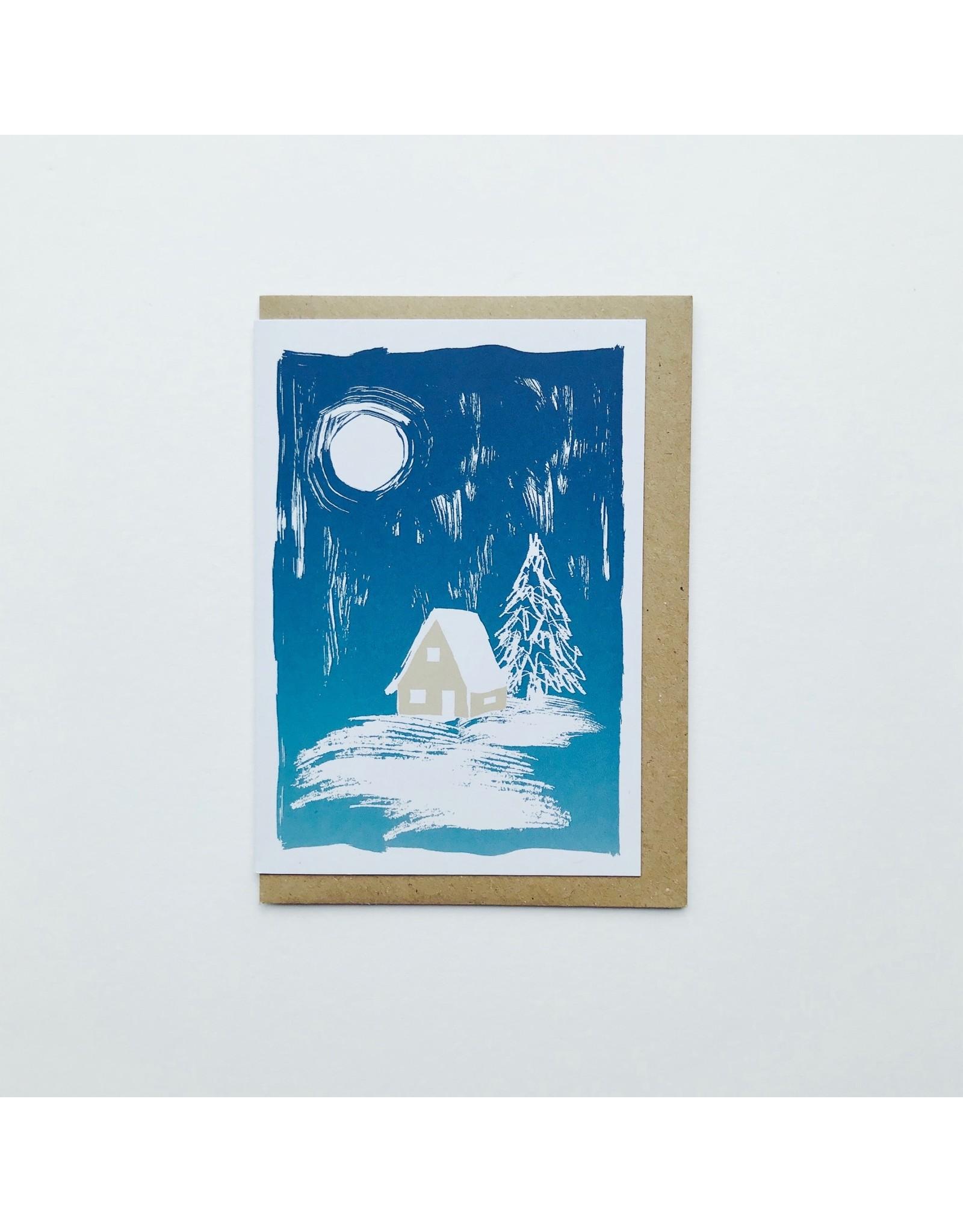 Mountain Cabin Christmas Card