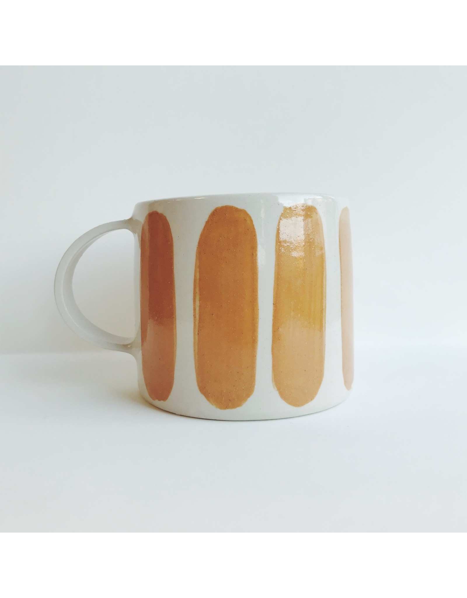 Striped Handmade Ceramic Mug