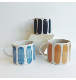 Striped Handmade Ceramic Mug