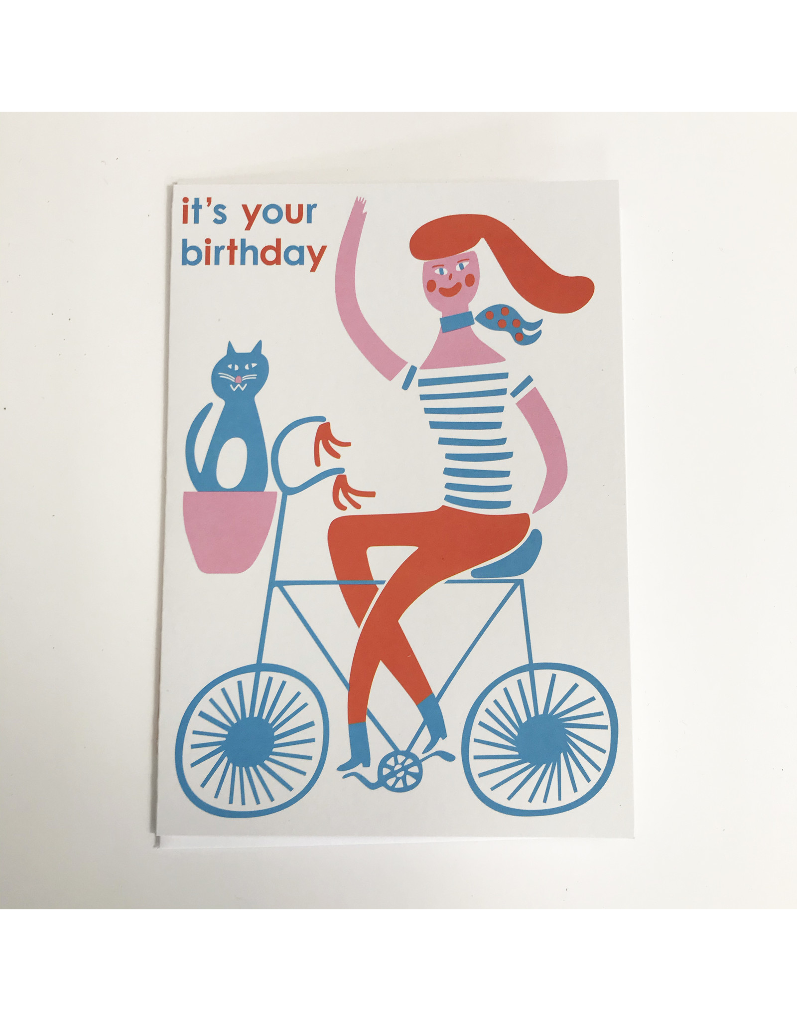 Cyclist Birthday Card