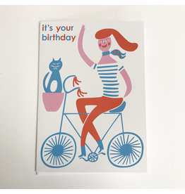 Cyclist Birthday Card