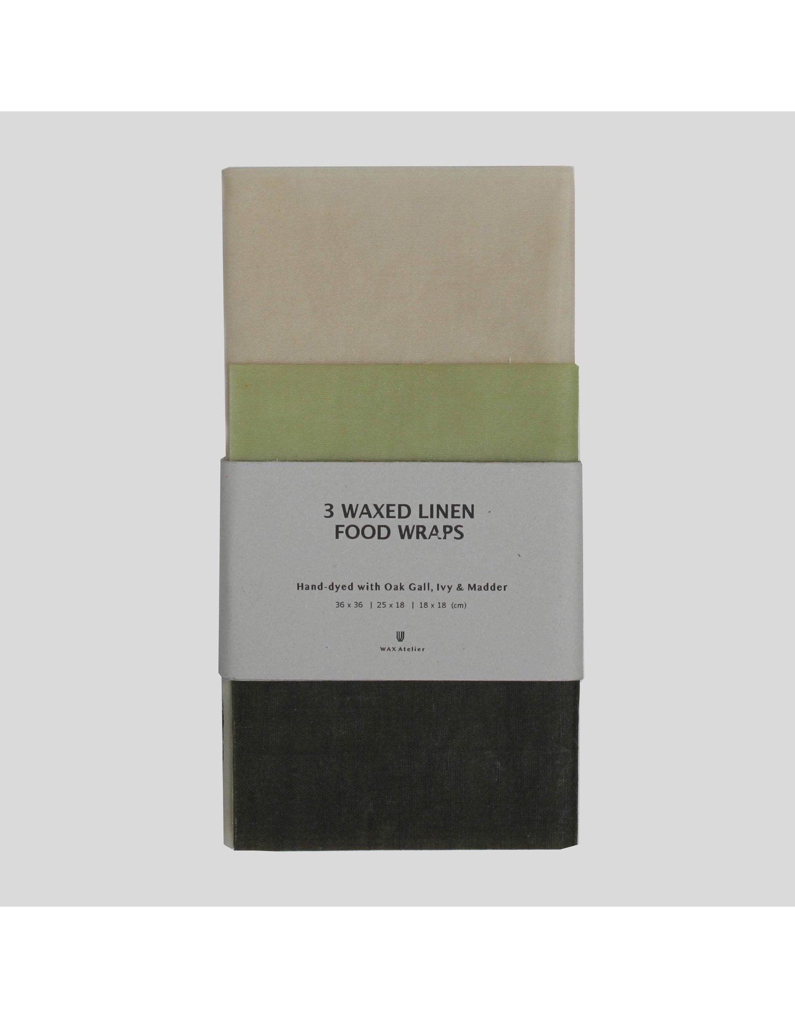 Wax Linen Food Wraps 3 Pack