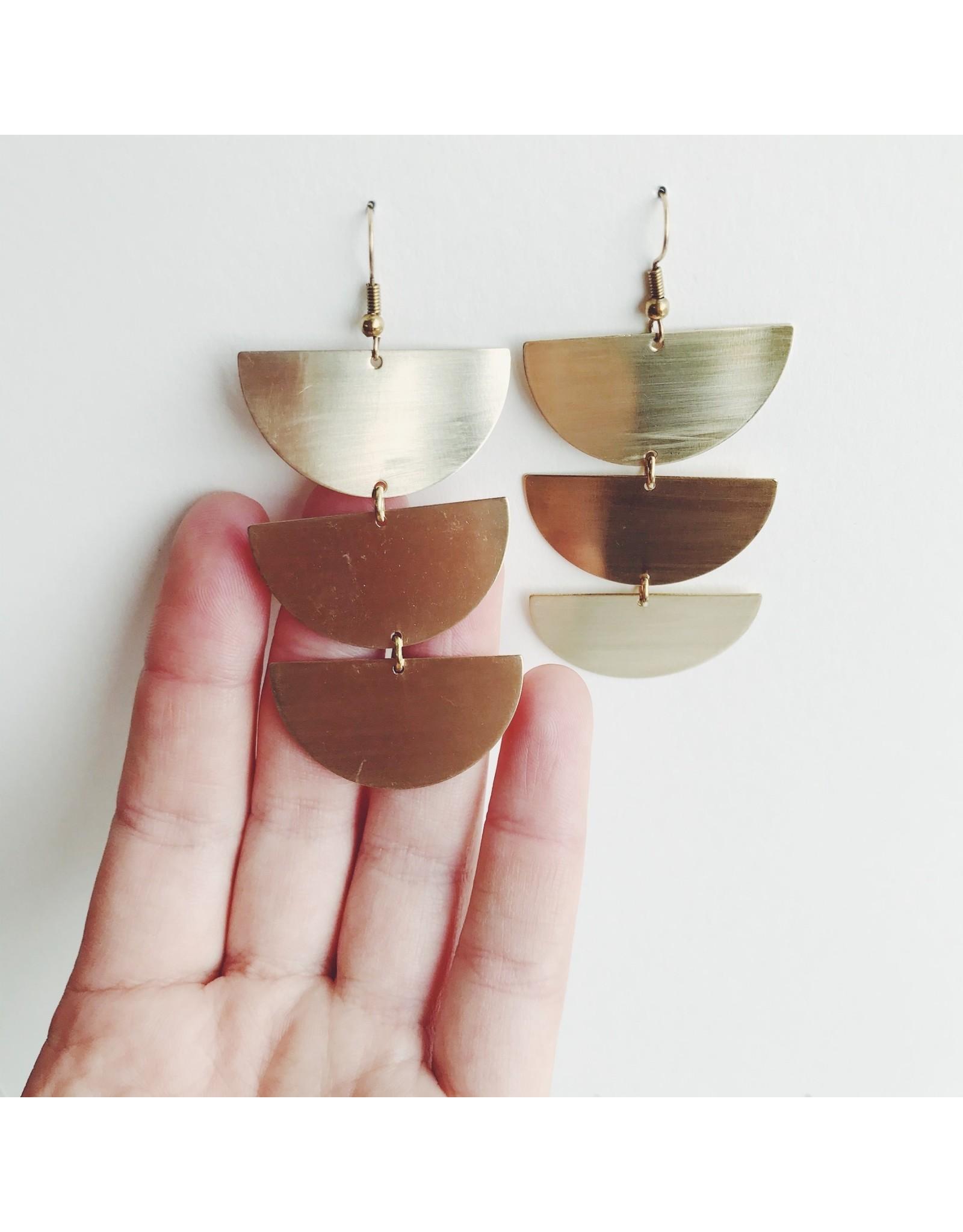 Eva Brass Dangle Earrings