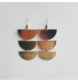 Eva Brass Dangle Earrings