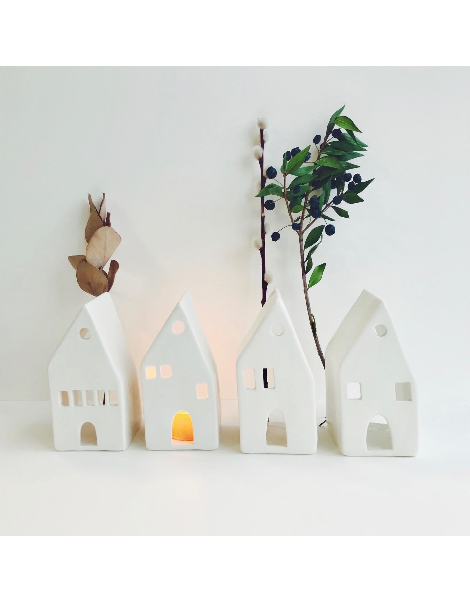 Tall House Tea Light Holder