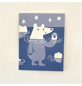 Paddling Polar Bear Christmas Card