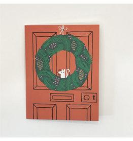 Festive Wreath Christmas Card