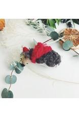 Festive Hedgehog Christmas Decoration