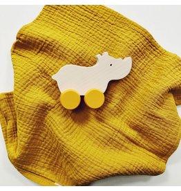 Baby Gift Set Rhino Toy + Muslin