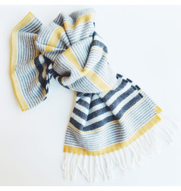 Lambswool Scarf Seaside Stripe