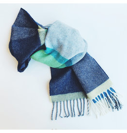 Lambswool Scarf Navy & Smoke