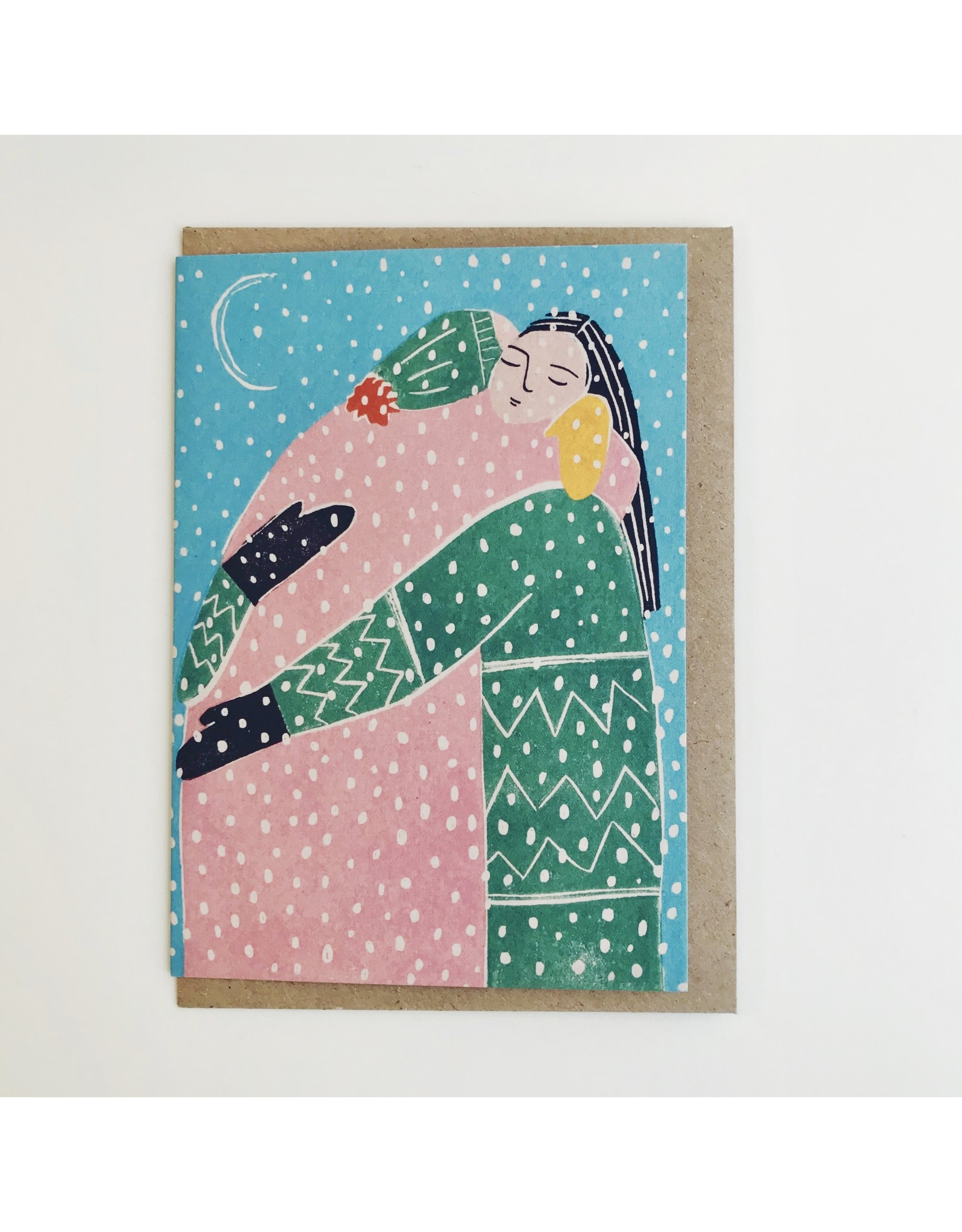 Winter Hug Greeting Card