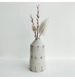 Monochrome Stoneware Bud Vase