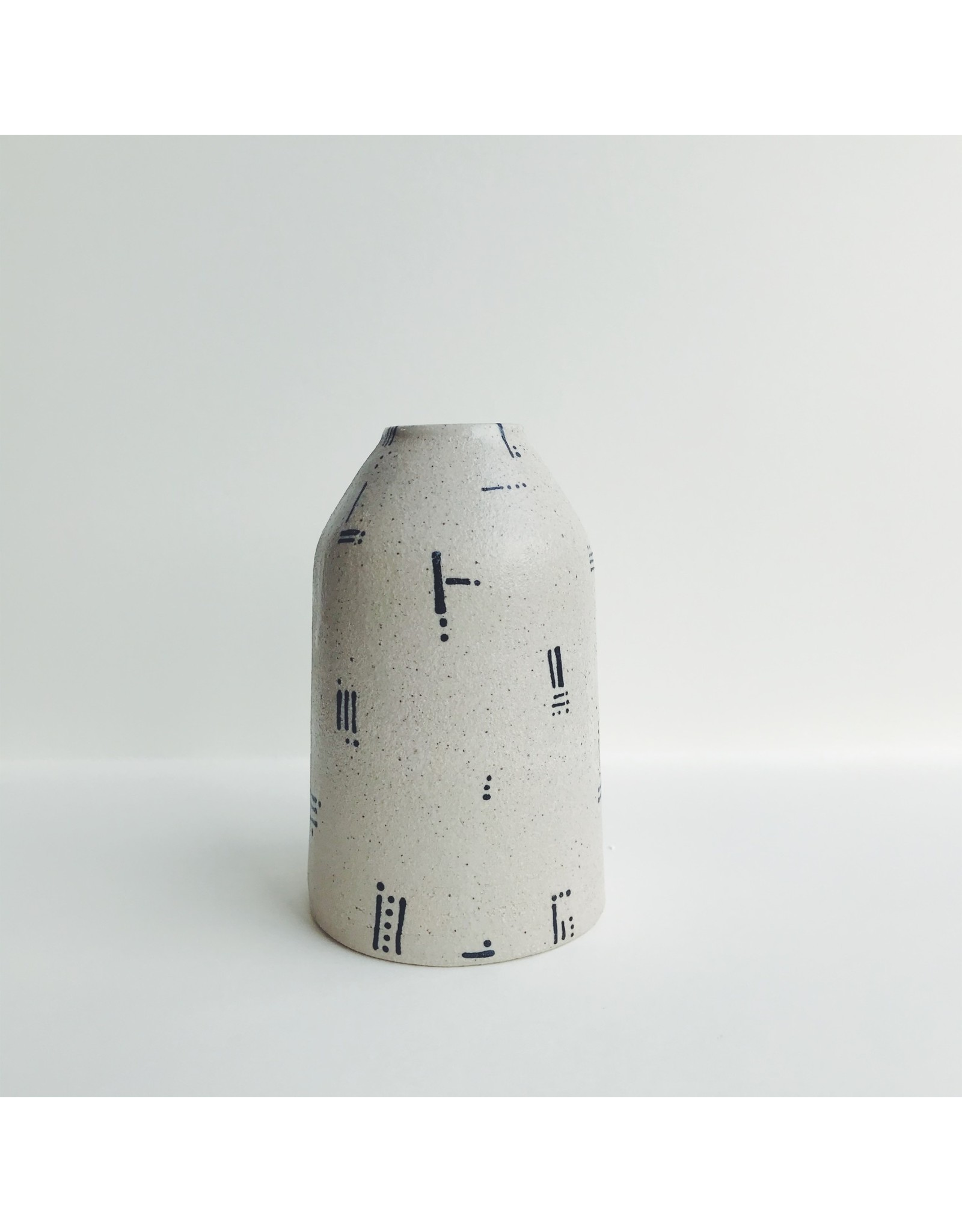 Abstract Stoneware Bud Vase