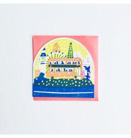 Snowglobe London Bus Christmas Card
