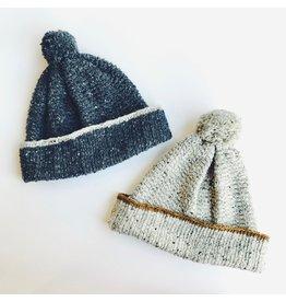 Wool Beanie Hat with Pompom