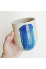 Blue Brushstroke Pot