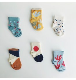 Organic Cotton Baby Socks 0-12M