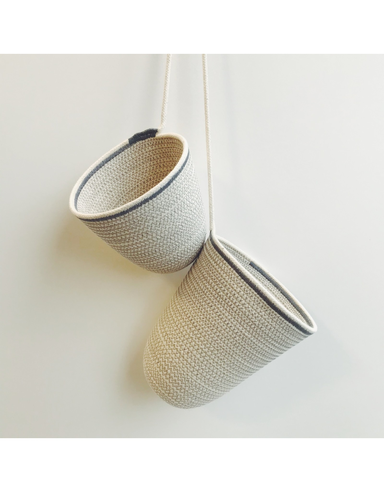 Pair Of Rope Hanging Vessels