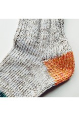 Recycled Cotton Socks Orange & Green
