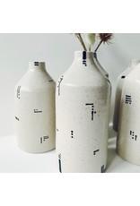 Monochrome Stoneware Bottle Vase