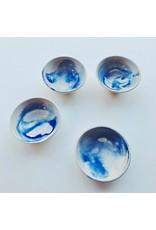 Blue Ceramic Dipping Bowl