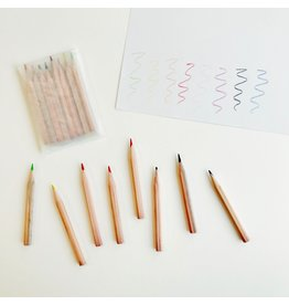 8 Mini Colouring Pencils