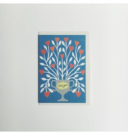 I love You Flowers Card