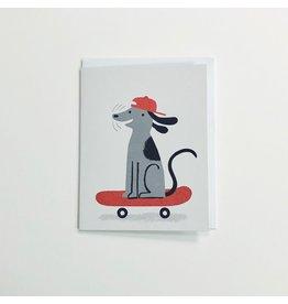 Skateboard Dog Greeting Card