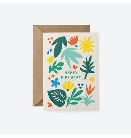 Happy Birthday Foliage Card