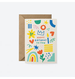 Happy Birthday To You Doodles Card