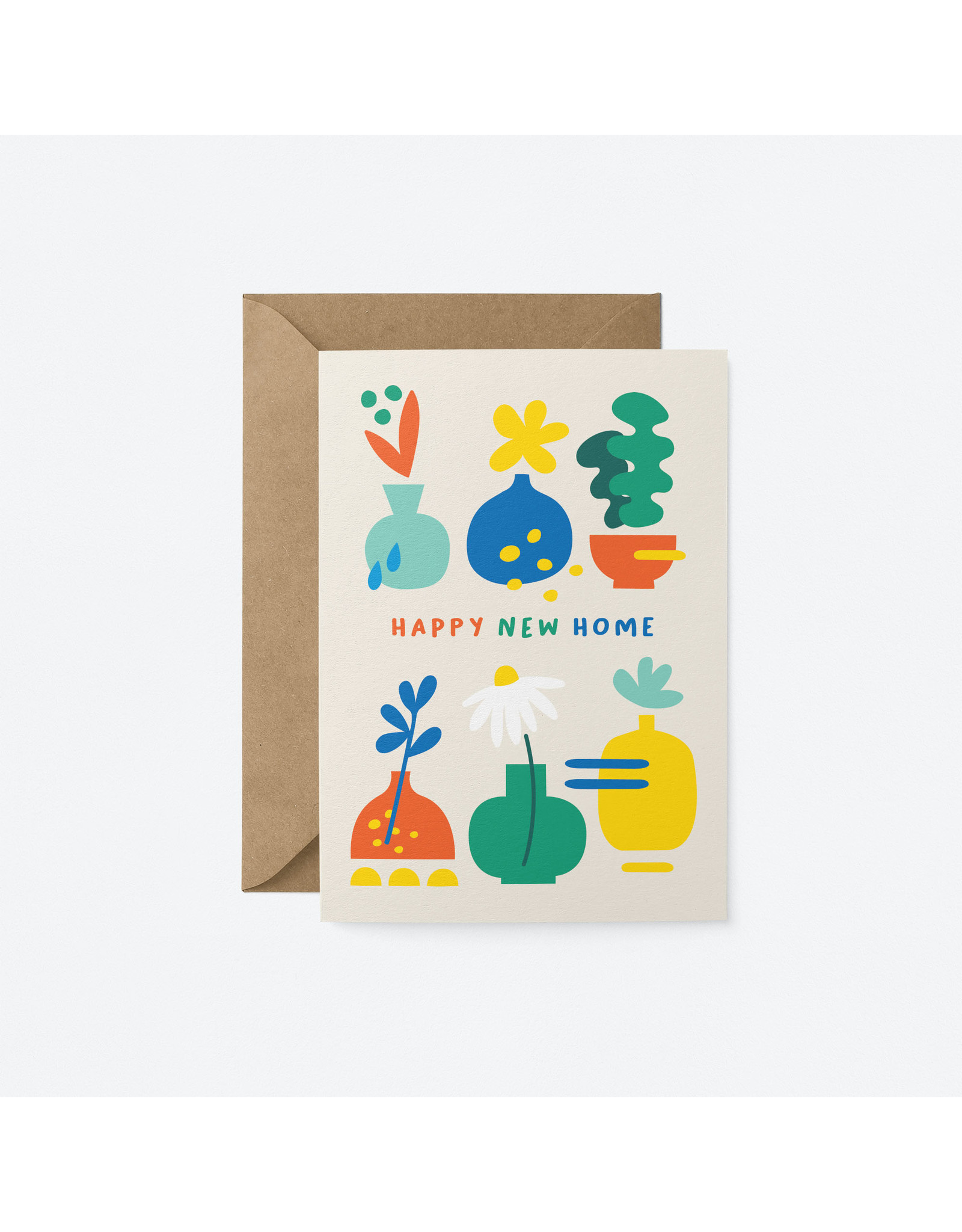 Happy New Home Plants Card
