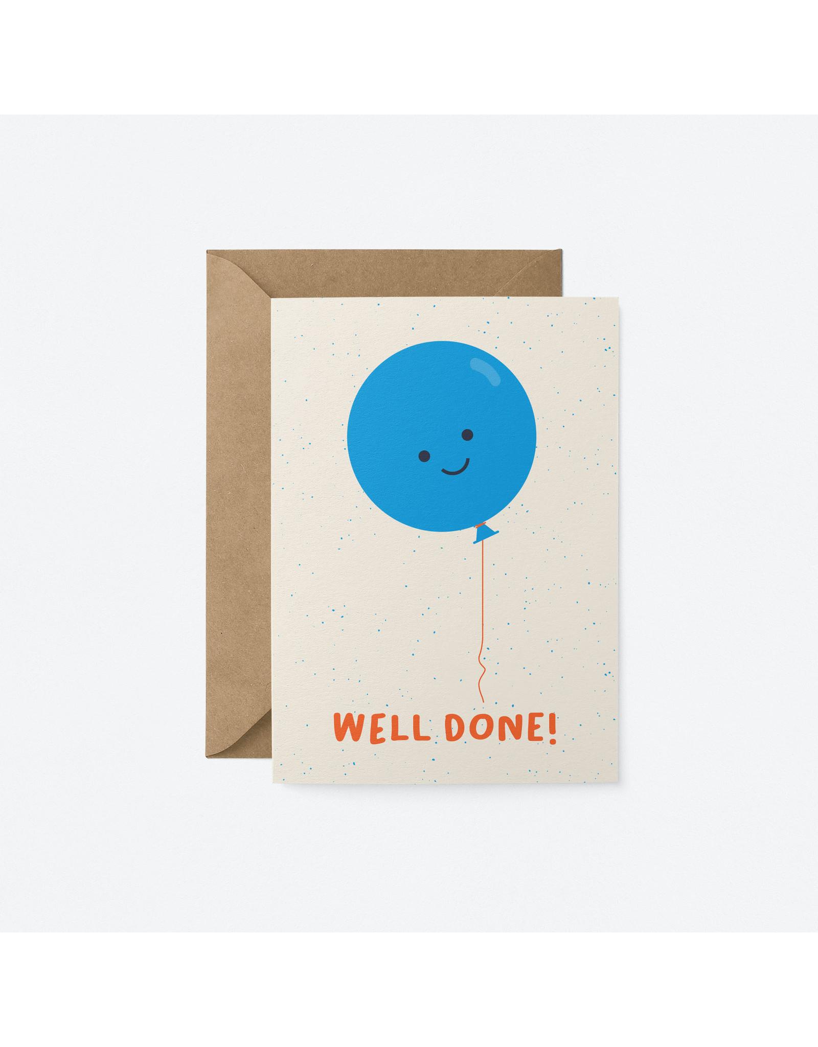 Well Done Balloon Card