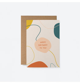 Happy Birthday to You Abstract Card