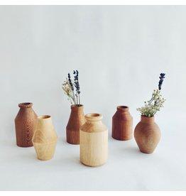 Wooden Dry Flower Vases
