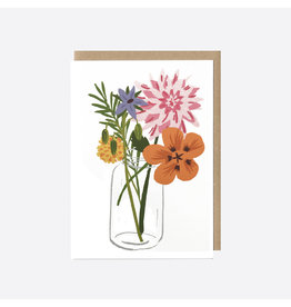 Allotment Flowers Greeting Card