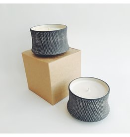 Scented Candle in a Ceramic Pot
