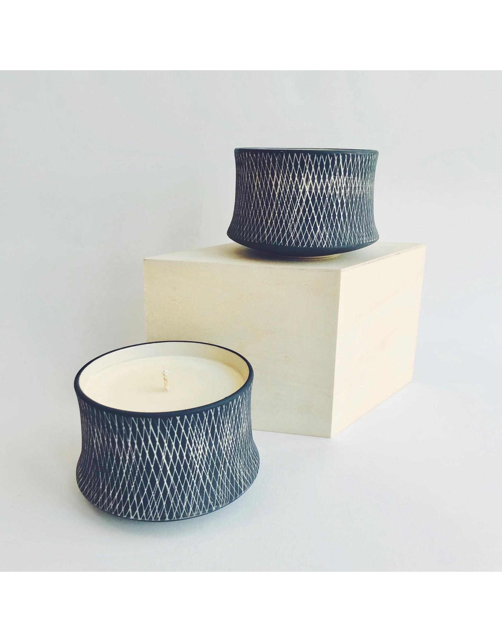 Scented Candle in a Ceramic Pot