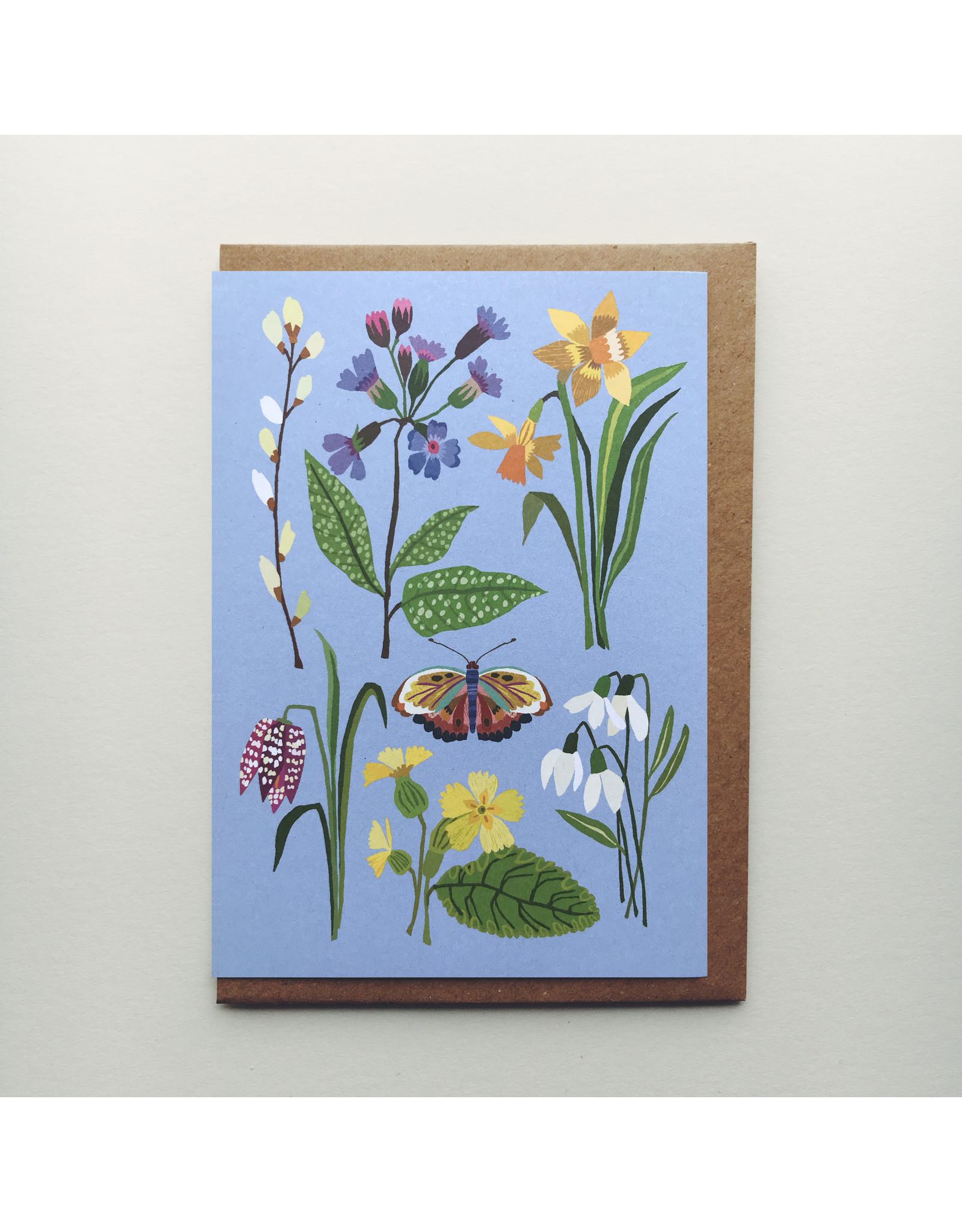 Spring Flowers Greeting Card