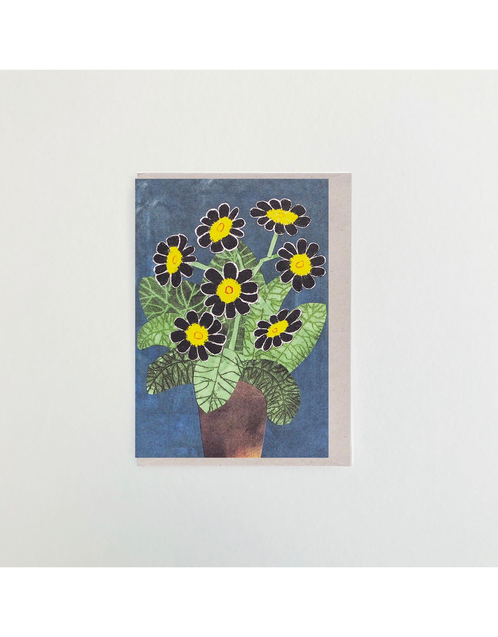 Black Flowers Greeting Card